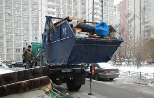 vyvoz stroi musora - Заказ контейнера 8 куб с погрузкой по Москве