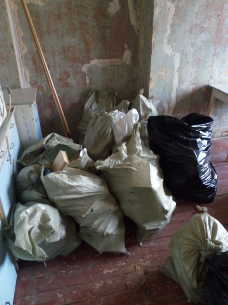 Объявление услуги о выносе мусора